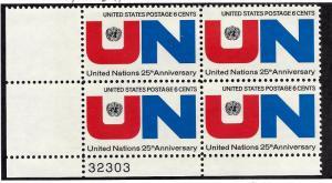 1419 Mint,OG,NH... Plate Block of 4... SCV $1.00