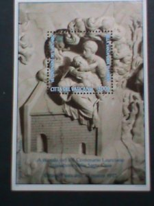 VATICAN CITY-1995 SC#  977  MARBLE CARVING-HOLLY HOUSE OF LORETO  MNH S/S VF