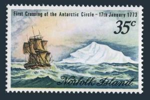 Norfolk 152,hinged.Mi 132. Crossing of Antarctic Circle by Cook,200th Ann.1973.