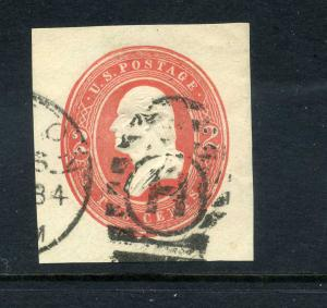 U231 Used XF Circular Letter H Cancel
