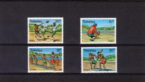 Tokelau 1979 Rugby & Cricket set (4) Perforated mnh.vf