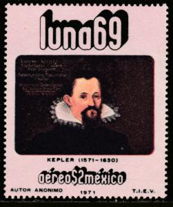 MEXICO C379, Physists and Astronomers - JOHANNES KEPLER. MINT, NH, F-VF.