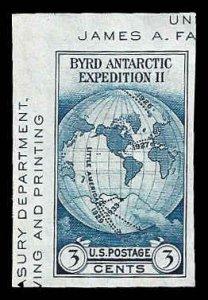 PCBstamps      US # 735a S.S. sgl. 3c Byrd Antarctic, MNH, (19)