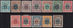 Labuan 1902-1909 SC 99A-109 Set H CV $98.50