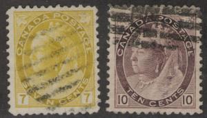 CANADA Used Scott # 81, 83 Queen Victoria (2 Stamps) -2