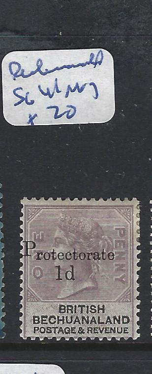 BECHUANALAND PROTECTORATE (PP1111B) QV 1D/1D PROTECTORATE  SG 41   MOG