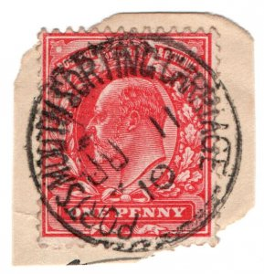 (I.B) Edward VII Postal : Railway Postmark - Portsmouth Sorting Carriage