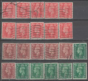 COLLECTION LOT # 3849 GB #282-4 22 STAMPS INVERTED WTMK 1950+ SWCV+$42