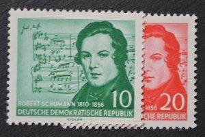 DDR Sc # 303-304, VF MH