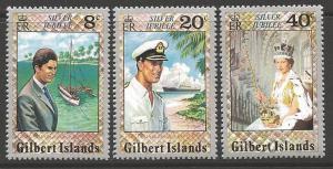 GILBERT ISLANDS SG48/50 1977 SILVER JUBILEE MNH