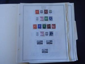 Kuwait 1923-1965 Stamp Collection on Album Pages