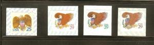 US Scott # 2431v, 2595v, 2596v, & 2597v  Eagle & Shield Coil Singles Set MNH