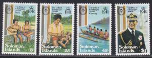 Solomon Islands # 453-456, Duke of Edinburg Awards 25th Anniversary NH, 1/2 Cat.