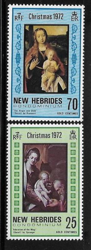 New Hebrides British 1972 Christmas Adoration of Magi Virgin and Child MNH A488