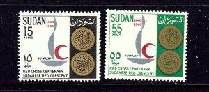Sudan 162-63 MNH 1963 Red Cross Centenary