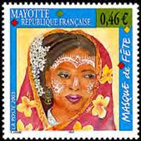 MAYOTTE 2003 - Scott# 186 Face Decorations Set of 1 NH