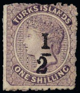Turks Islands Scott 14 Variety 1 Gibbons 12b Mint Stamp