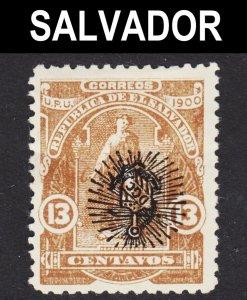 El Salvador Scott 276 INVERTED OVERPRINT ERROR F+ unused no gum.