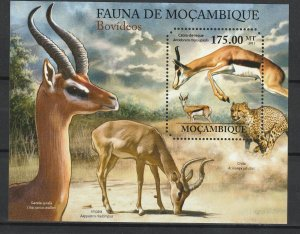 Mozambique MNH S/S Horned Animals Fauna 2011