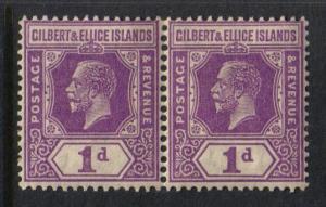 Gilbert & Ellice Islands #28 pair King George V