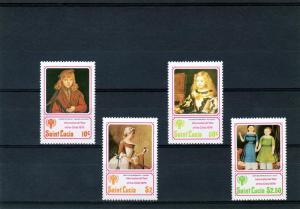 St.Lucia 1979 Cranach/Velazquez/ IYC Set(4) MNH Sc# 473/6