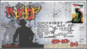 20-138, 2020, SC 5483, Hip Hop, Pictorial Postmark, First Day Cover, DJ