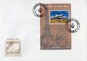 Niger 1998 Navette Space/Boeing Souvenir Sheet Imperforated  F.D.C.
