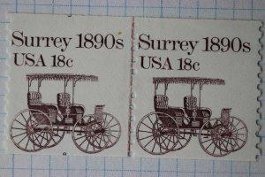 US sc#1907 Plate #8 EFO split cut shift CLP coil line pair Mint MNH