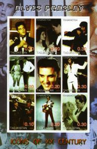 Tadjikistan 2001 Elvis Presley Sheet Perforated mnh.vf