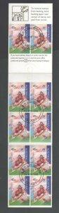 Centenary AFL 4 Stamp Booklets Fitzroy Lions Australia Brisbane CTO