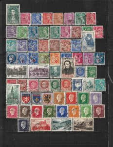 COLLECTION LOT OF 69 FRANCE 1938+ STAMPS