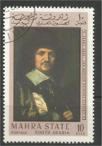 SAUDI ARABIA, Mahra State, used 10f, Paintings Scott 48