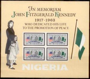 Nigeria 1964  SC# 159-6a JFK S/S Imperf MNH L189
