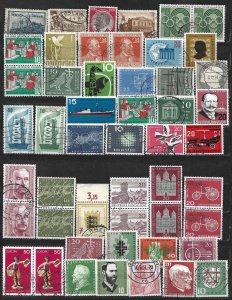 COLLECTION LOT OF 50 GERMANY  1923+ STAMPS