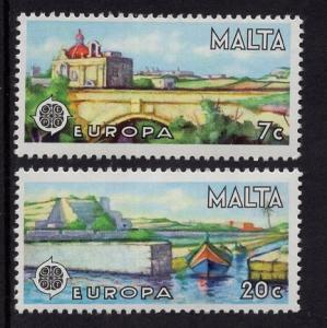 Malta   #539-540   MNH 1977  Europa harbor Is-Salini