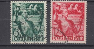 J28695, 1938 nazi germany set used #b116-7 carrying torch