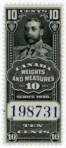 (I.B) Canada Revenue : Weights & Measures 10c