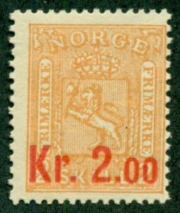 NORWAY #61, Mint Never Hinged, Scott $170.00