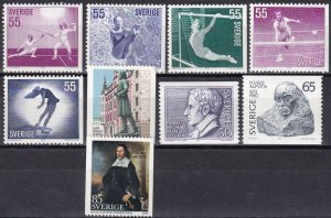 Sweden #914-8, 919-22  F-VF Unused CV $5.35  (Z6230)