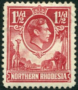 NORTHERN RHODESIA-1938-52 1½d Carmine-Red Sg 29 MOUNTED MINT V35943