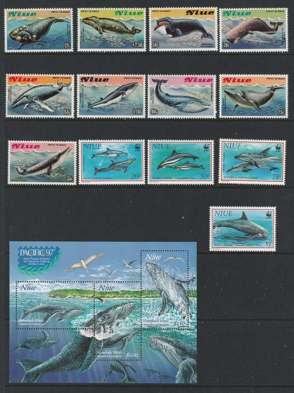 Niue x 3 sets & 4 mini sheets MNH moderns