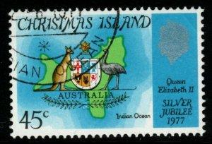 CHRISTMAS ISLAND SG83 1977 SILVER JUBILEE FINE USED