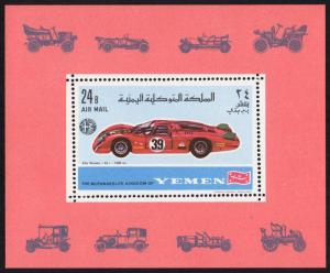 Yemen (Kingdom) Mi Block 147A (#644) mnh s/s perf - 1969 - race car auto racing