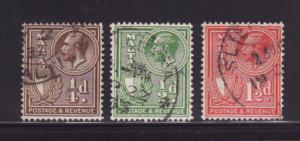 Malta 167-169 U King George V (A)