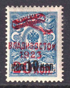 FROM RUSSIA WITH LOVE VLADIVOSTOK 1923 AIRMAIL RED OVERPRINT #5 OG NH U/M F/VF