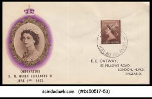 TOKELAU ISLANDS  -  1953 QEII CORONATION - FDC