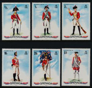 Grenada 428-33 MNH Military, Soldier, Flag