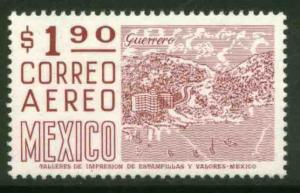 MEXICO C447 $1.90 1950 Def 8th Issue Fosforescent glazed MINT, NH. F-VF.