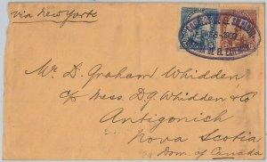 50326  - EL SALVADOR -  POSTAL HISTORY  - COVER to NOVA SCOTIA Canada -- 1903