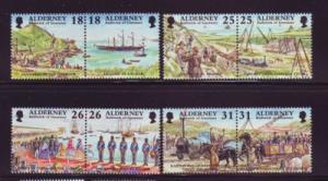 Alderney Sc 106-13 1997 Garrison Island stamp set mint NH